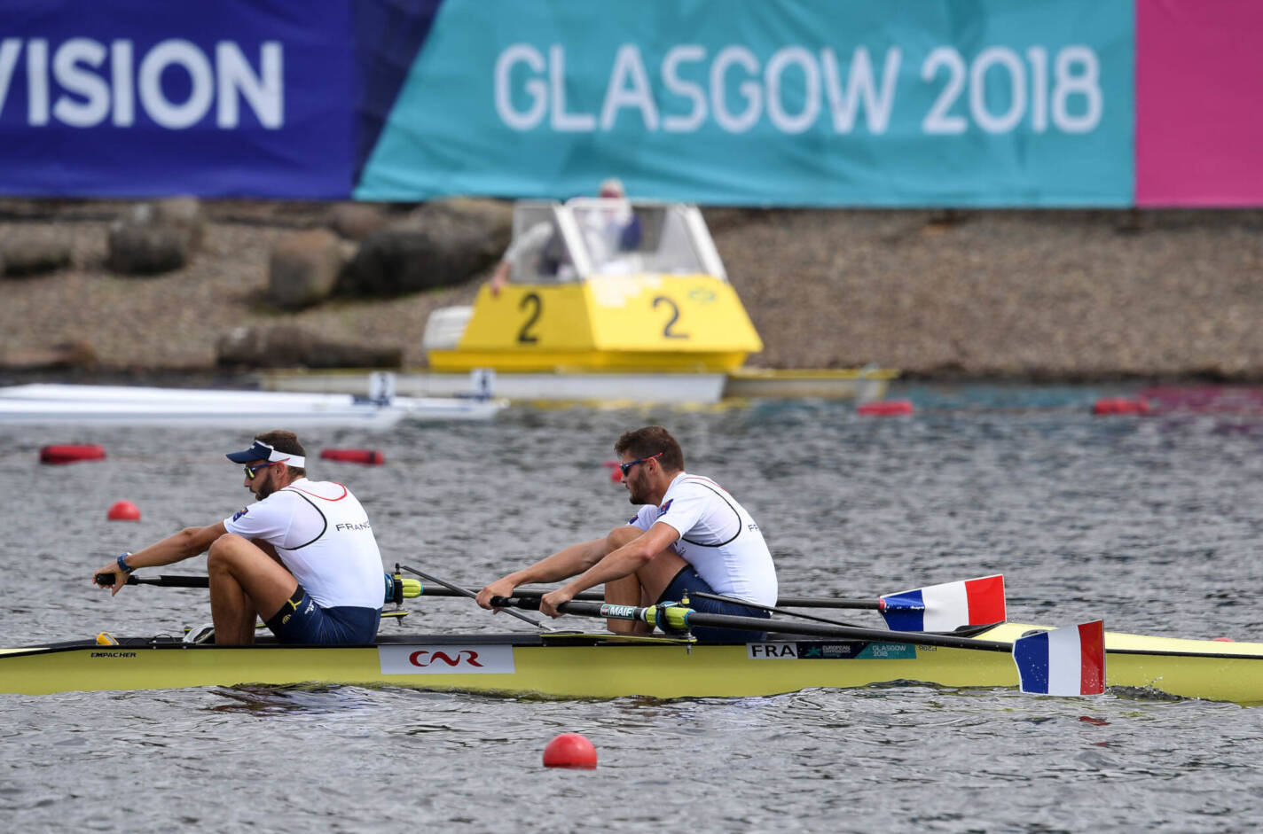 European Rowing Championships Glasgow M2x Silver FRA