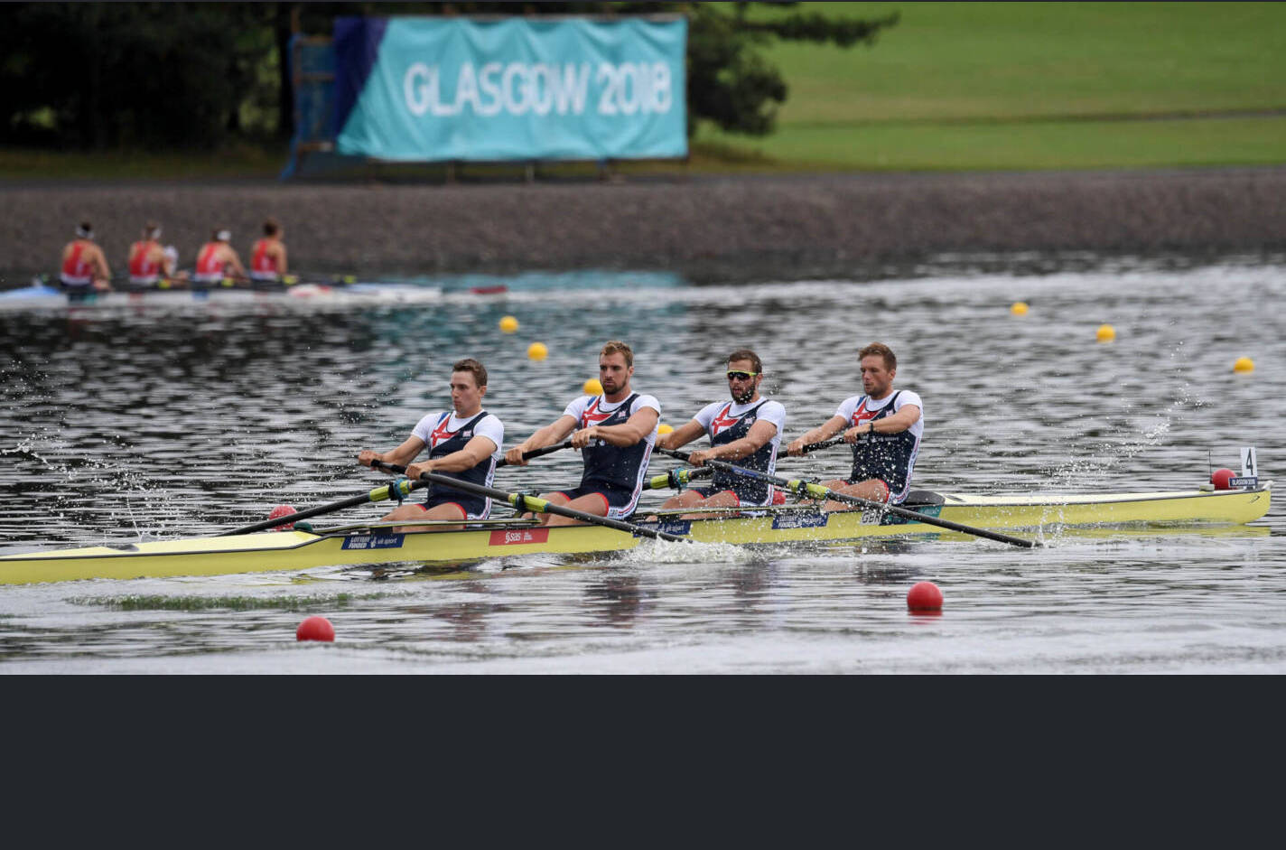 European Rowing Championships Glasgow M4- Silver GBR