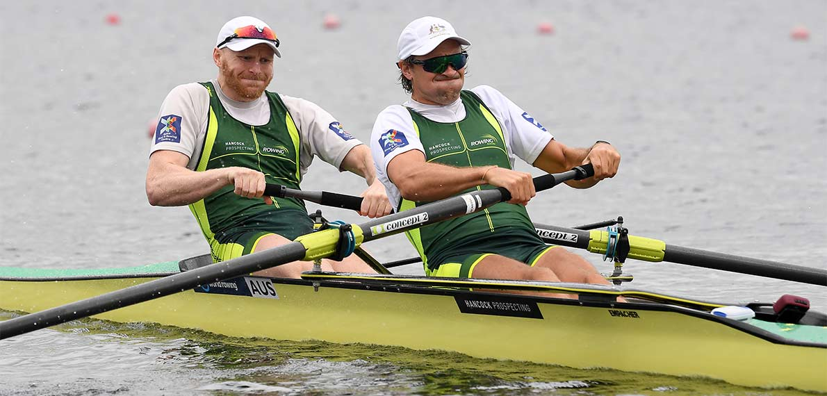 World Rowing Cup III Rotterdam M2- Gold AUS