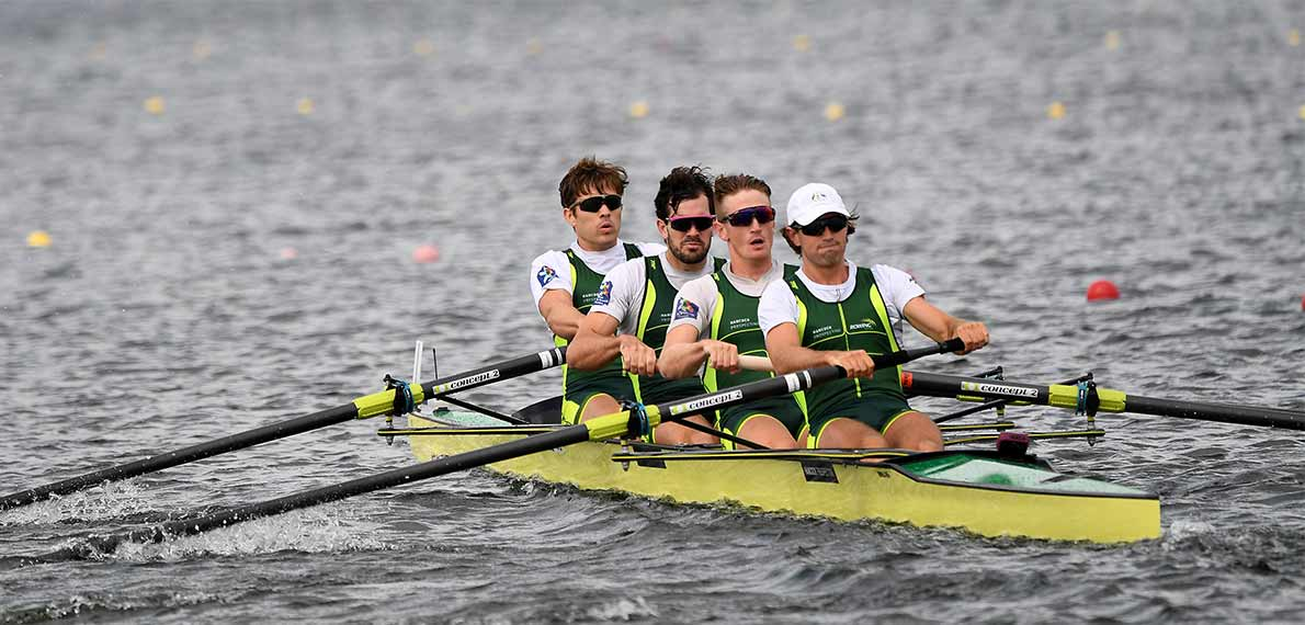 World Rowing Cup III Rotterdam M4- Gold AUS