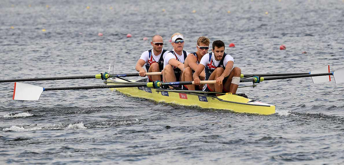 World Rowing Cup III Rotterdam M4- Silver GBR