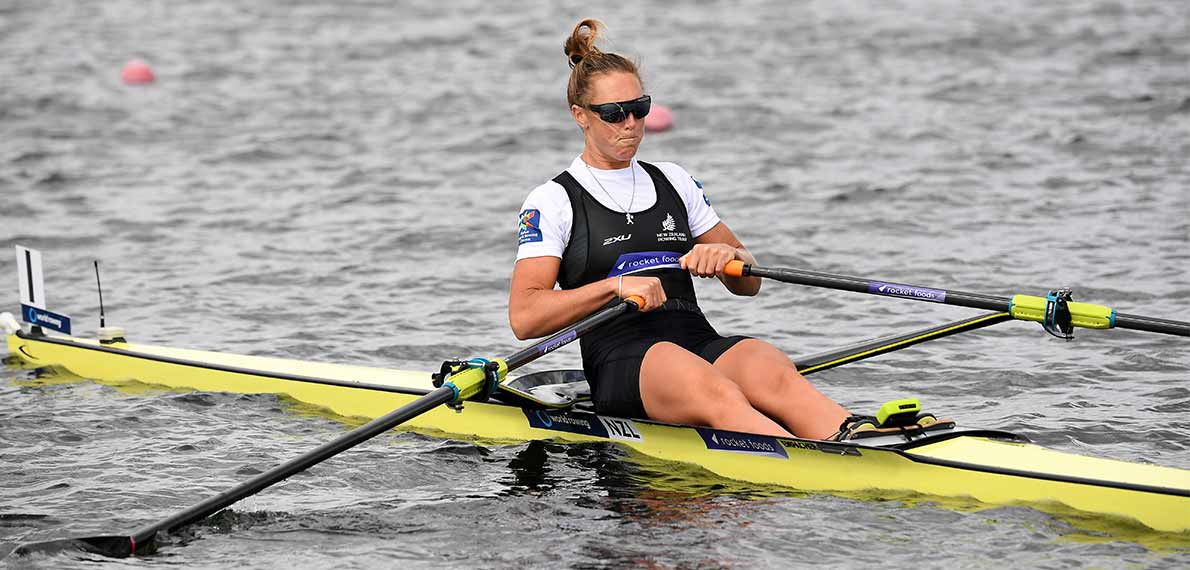 [Translate to English:] World Rowing Cup III Rotterdam W1x Gold NZL