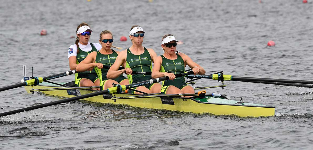 World Rowing Cup III Rotterdam W4- Gold AUS