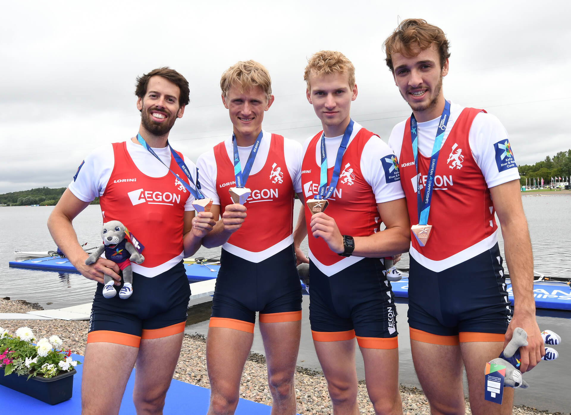 European Rowing Championships Glasgow LM4x Bronze NED