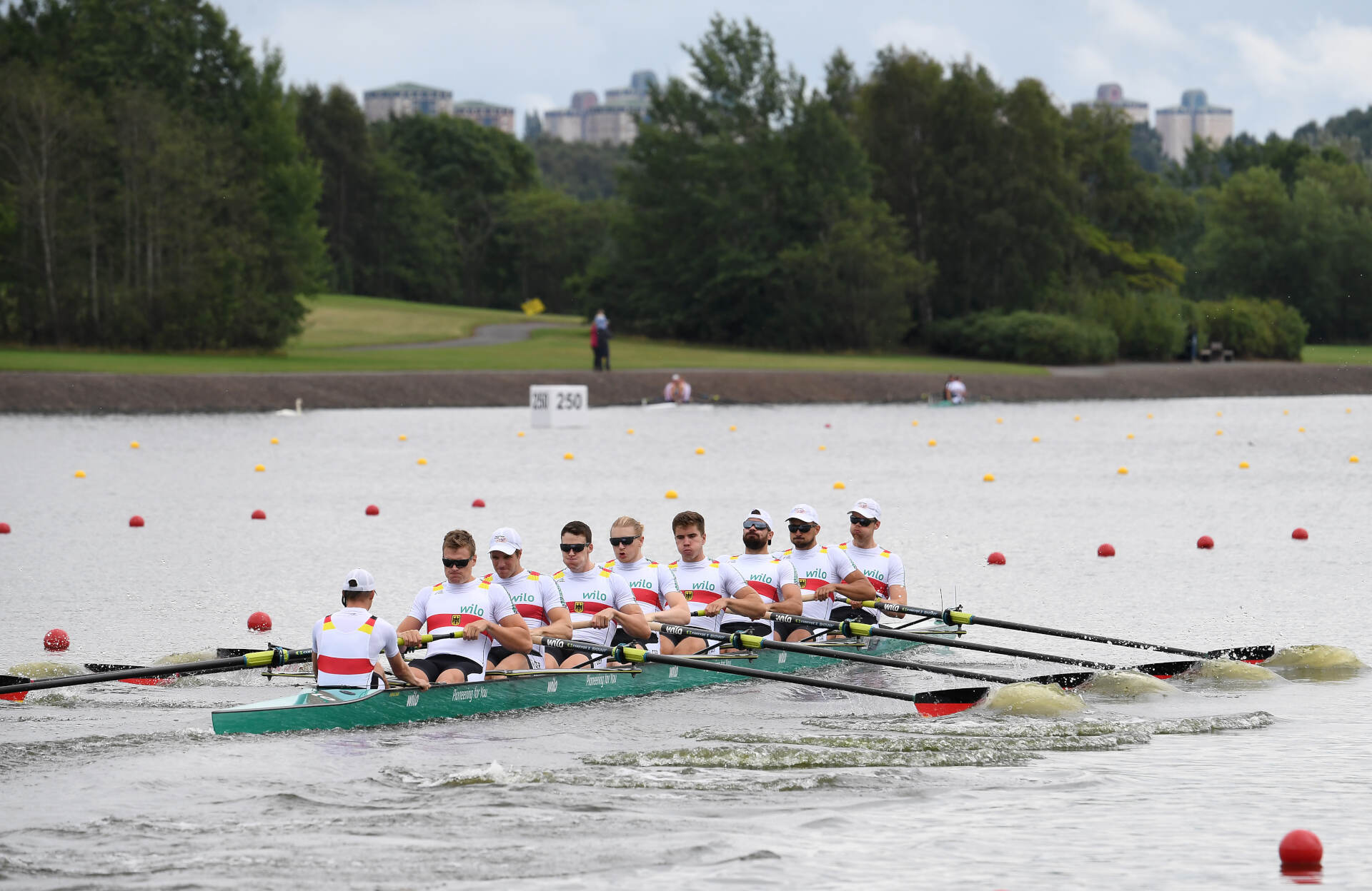 European Rowing Championships Glasgow M8+ Gold GER