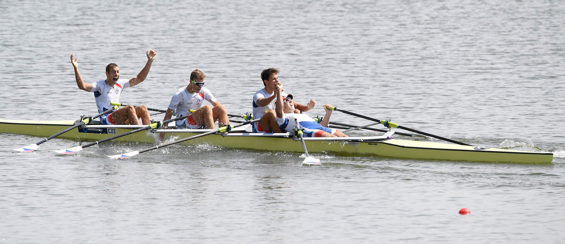 World Rowing Junior Championships JM 4x Gold CZE