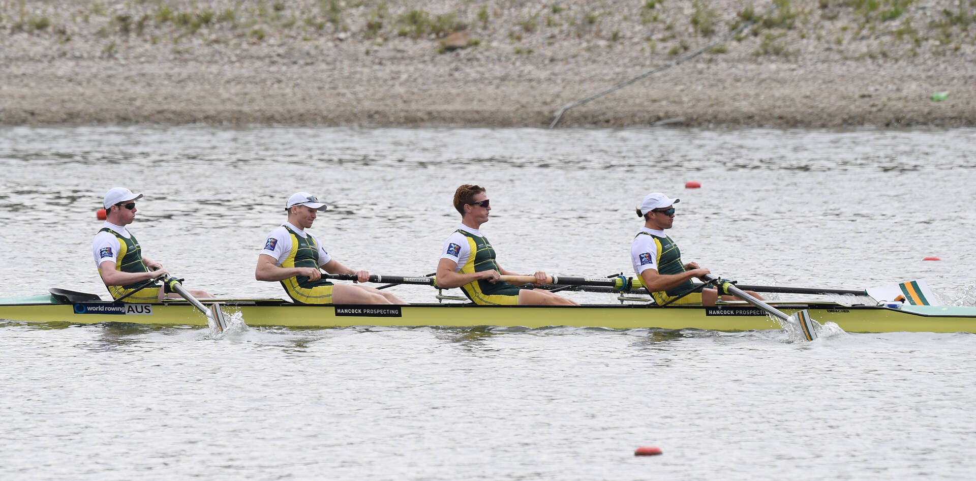 World Rowing Cup II Linz M4 Gold AUS