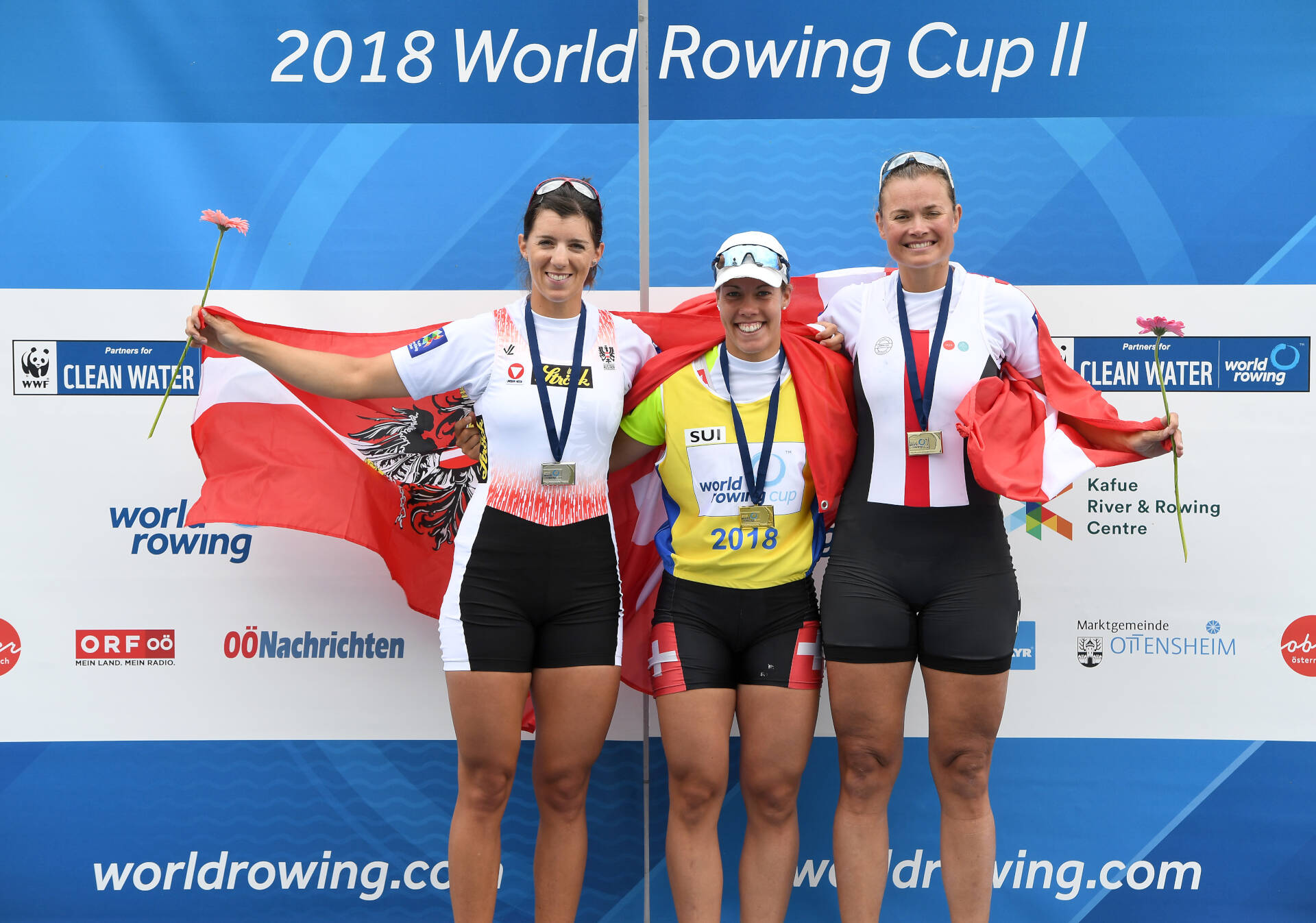 World Rowing Cup II Linz W1x Gold SUI Silver AUT Bronze DEN