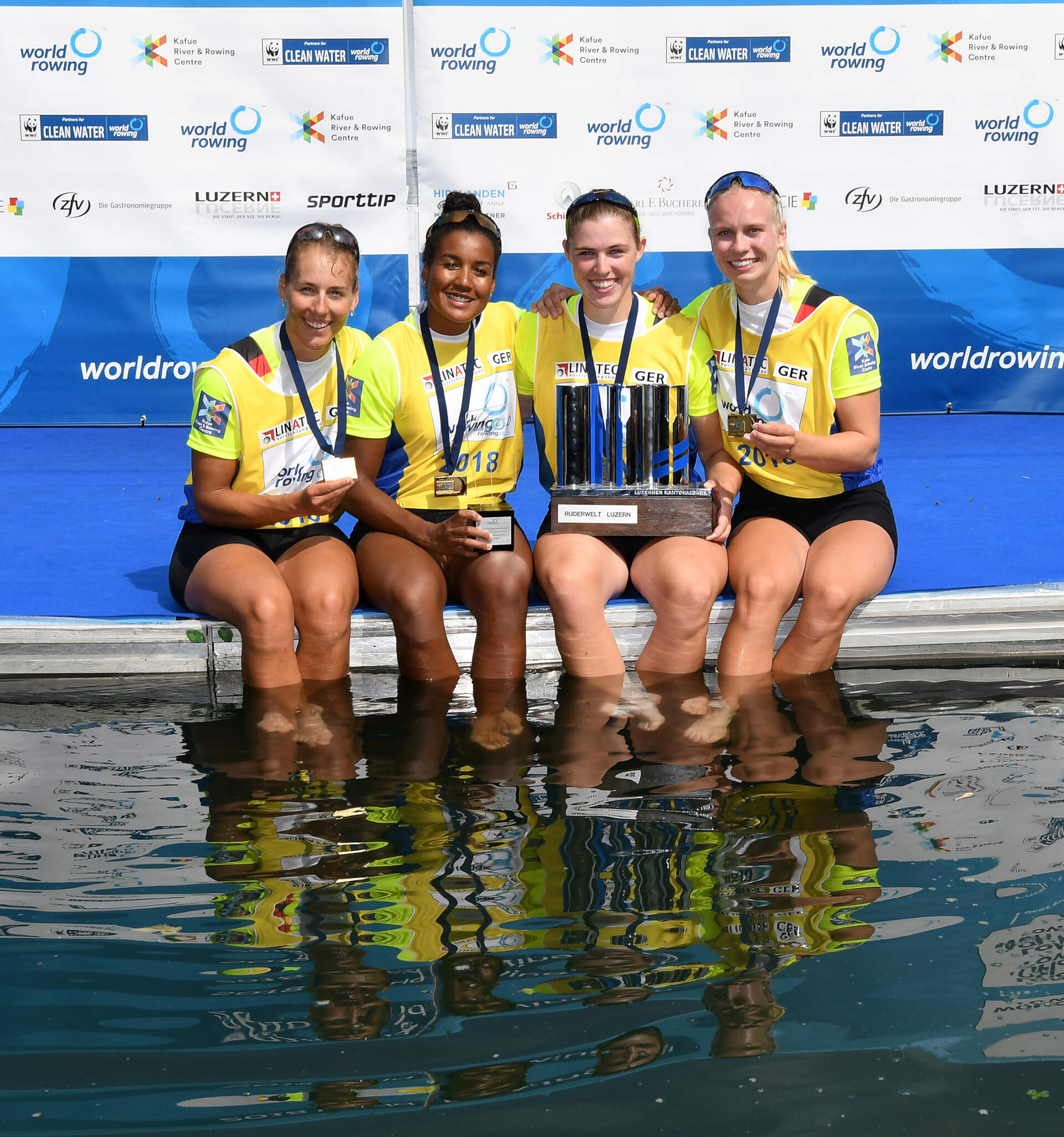 World Rowing Cup III Luzern W4x Gold GER