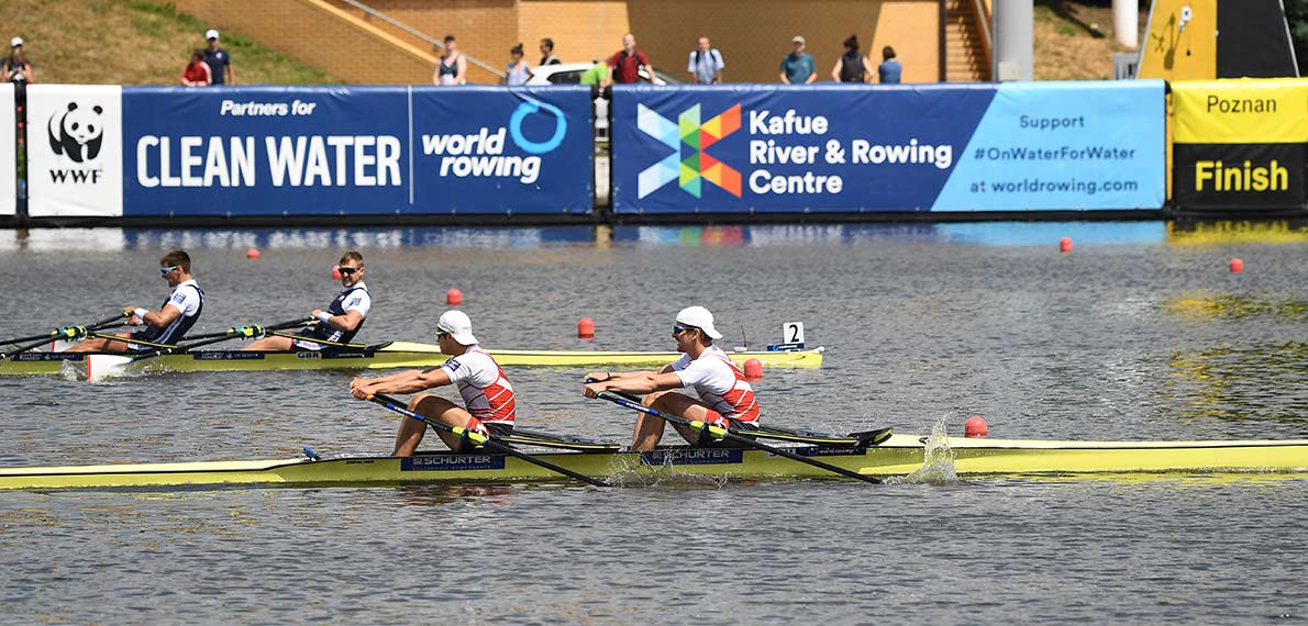 World Rowing Cup II Poznan M2x Gold SUI_Silver GBR