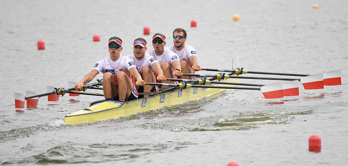 World Rowing Cup II Poznan M4x Gold POL